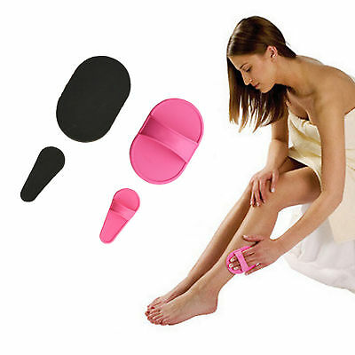 Exfoliator Set Smooth Away Legs Skin Pads Arm Face Hair Pads Removal Remover NEW