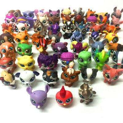 Hasbro LPS Littlest Pet Shop Lot Random 20PCS Animals Cat Dog Sheep Figure Toy