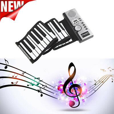 Portable Roll-Up 61 Soft Responsive Key Synthesizer Electronic Piano Keyboard