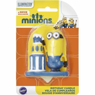 Wilton Despicable Me Minions Birthday Candle 3 Inches Tall - Item No. 2811-4600