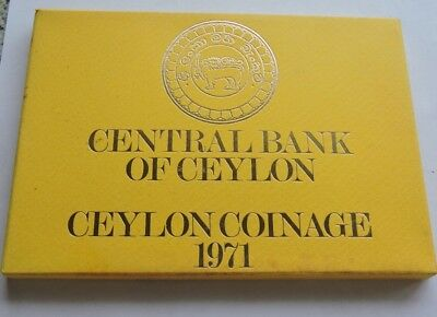 1971 Ceylon Proof Coin Set