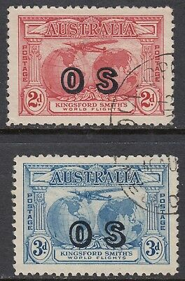 1931 2d, 3d KINGSFORD SMITH OFFICIAL, USED