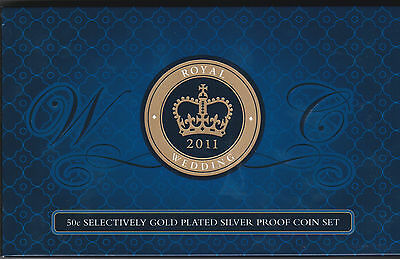 2011 Australia Royal Wedding Gold Plated Silver Proof Two Coin Set......h
