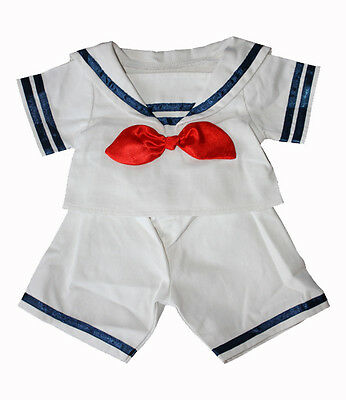 """Sailor Boy outfit with hat teddy clothes fits 15"""" Build a Bear"""