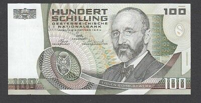 100 Schilling From Austria 1984 A6 Unc