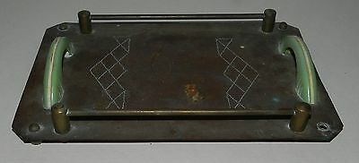 ART DECO TRAY - FOLK ART -   Circa 1930's - ENGRAVED COPPER - UNIQUE