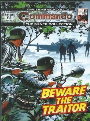 Beware The Traitor,commando The Silver Collection,no.4686,war Comic,2014