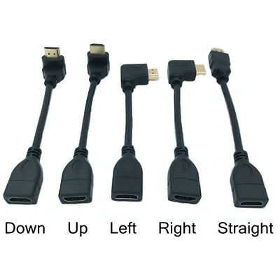 Up Down Right Left HDMI Male to Female Adapter Converter Extender Cable Angle