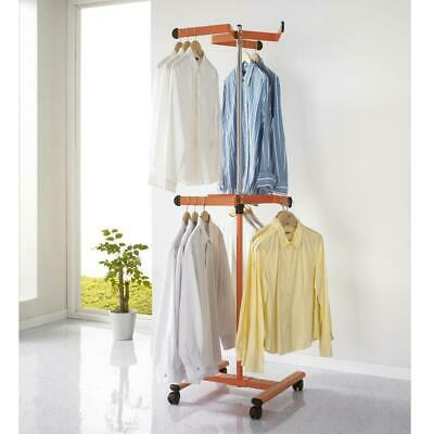 MOMs coat rack E2, clothes rack on 2 levels with foot rollers, different colors