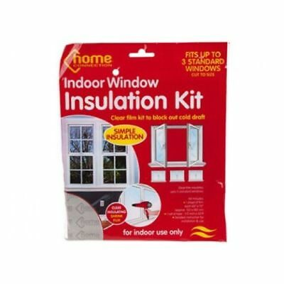 Draft Excluder Insulation Kit Double Glazing Film  Window Shield Home Heating