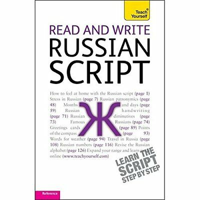Read and Write Russian Script: Teach Yourself - Paperback NEW Dr Daphne West 201