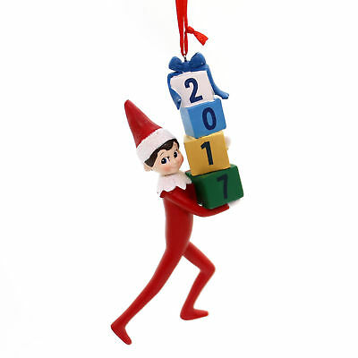 Holiday Ornaments ELF ON SHELF 2017 DATED Polyresin Department 56 4056874