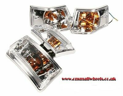 Vespa PX LML Clear Lexus Indicator Lamp Units Complete New!!