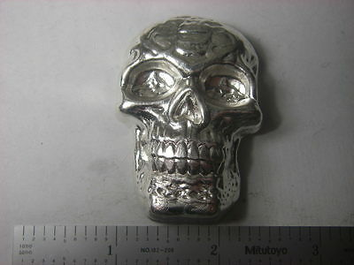 Celtic Skull - Beaver Bullion hand poured Canadian 5 troy ounce 999 fine silver