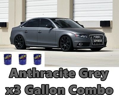 3 Gallon Anthracite Grey True Metallic Ready to Spray Plasti Dip Combo Bundle