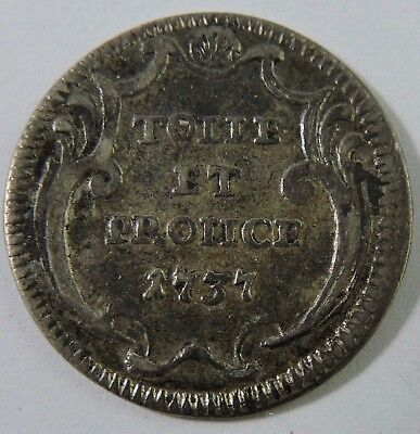 Papal States 1737 Grosso Silver Coin