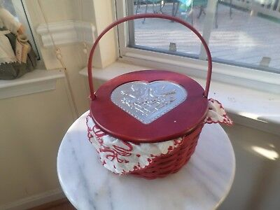 Longaberger Be My Valentine Basket Combo Red Stain