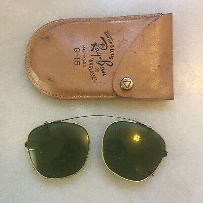 Vintage Bausch & Lomb Ray Ban G-15 Sunglasses Clip On