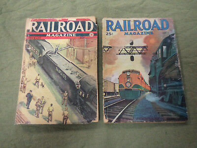 #JJ5. 1940s RAILROAD MAGAZINES  - JOB LOT OF 17
