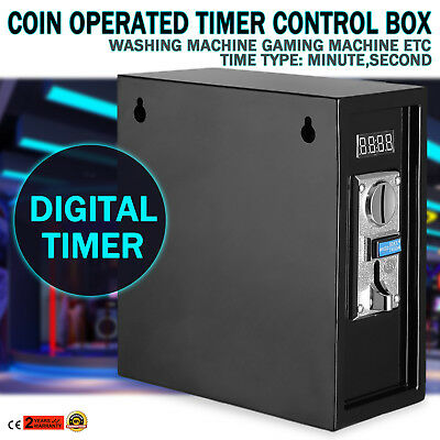 Coin Operated Timer Power Supply Box Coin Meter Device 30 seconds Warning Sound