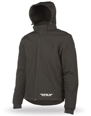 Fly Racing Adult Armored Tech Hoody Black Jacket Size S-3XL