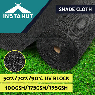 90% UV Sun Shade Cloth Shadecloth Sail Roll Mesh Garden Outdoor Black