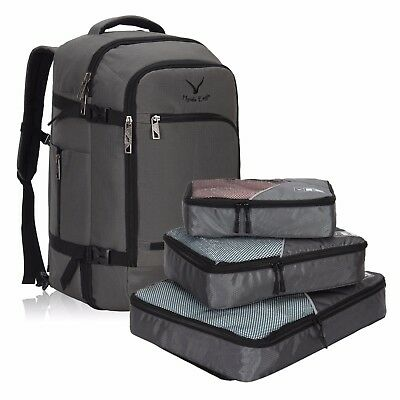 Hynes Eagle 40L Flight Approved Carry-on Backpack Luggage S/3 Packing Cubes Set