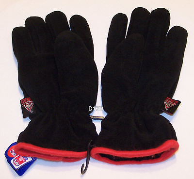 Essendon Bombers AFL Youth Polar Fleece Gloves New
