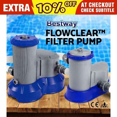1500/ 2500GPH Bestway Flowclear™ Filter Pump Filters Swimming Pool Cleaner