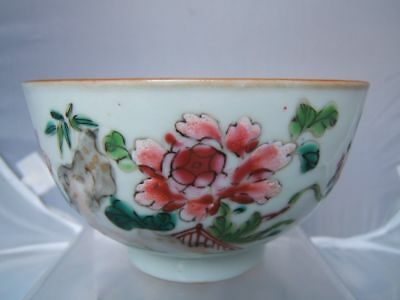 3 pieces of chinese famille rose and imari porcelain . All C18th inc bowl & dish