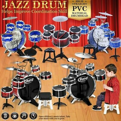 Kids Junior Jazz Drum Kit Musical Set Children Mini Big Band Play Toy Music