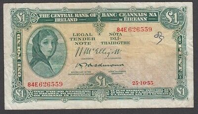 1 Pound From Ireland A7 1955 Payable In London