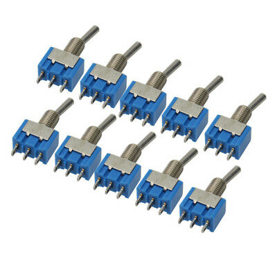 Set of 10 Mini MTS-102 3-Pin SPDT ON-ON 6A 125VAC Toggle Switches Kits New