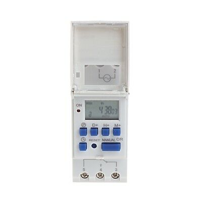 50/60Hz 12V 16A LCD Digital 7-Day Programmable Timer Time Relay Switch Guide Din