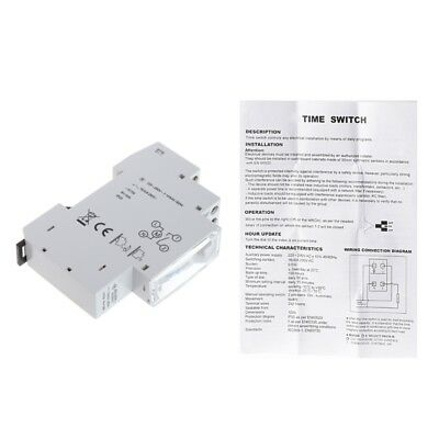 Mechanical 24 Hours Programmable Din Rail Timer Switch Relay 110-240V AC 16A