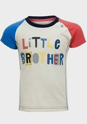 Baby Boys T Shirt Little Brother Size 0-3, 3-6, 9-12, 12-18, 18-24 Free P+P