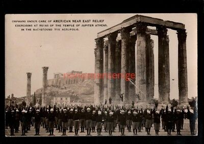 Greece Athens American Near East Relief Orphans Exercising Rp Pc 1924 - Gr66