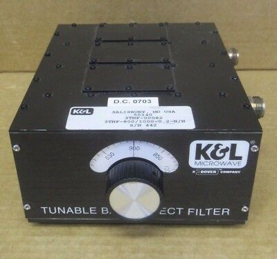 K & L Tunable Bandreject Filter 3TNF - 800/1000 - 0.2-N/N
