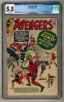 Avengers #6 CGC 5.5 (OW) 1st baron Zemo and The Masters of Evil
