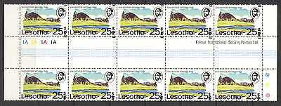 Lesotho 1980 25s on 25c Double Surch Error gttr n21932