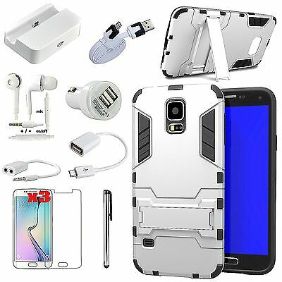 11 in 1 Accessory Case Charger Earphones For Samsung Galaxy Note 4 N9100 N9105