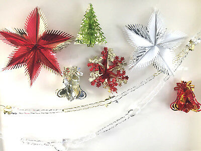Christmas Xmas Party Foil Wall/ceiling Home Hanging Decoration Festive Tinsel