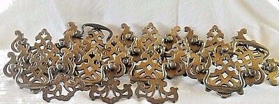 12 Chippendale Brass Finish Colonial Cabinet Dresser Drawer Pulls Handle 3 Small
