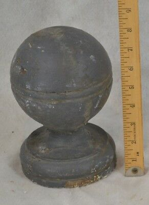 antique ball finial post topper architectural wood carved large original 1800