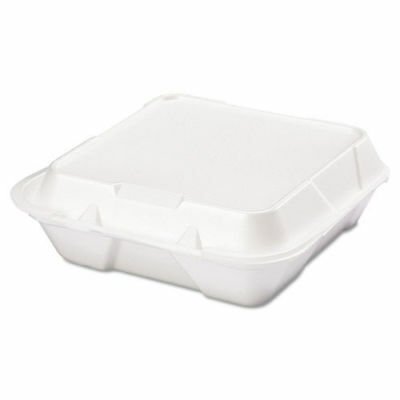 Genpak Snap It Foam Container, 1-Comp, 9 1/4 X 9 1/4 X 3, White, 100/bag, 2 Bags
