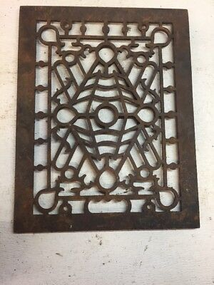Victorian Ornate Cast Iron Floor Grate Heat Register 10 58 x 13 58 stick & Ball