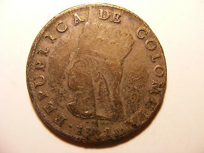 Colombia 8 Reales, 1821-Ba JF, VG or a bit better, Nueva Granada
