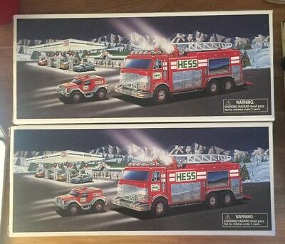 2005 Hess Emergency Truck With Rescue Vehicle In The Original Box!!! Lot Of 2
