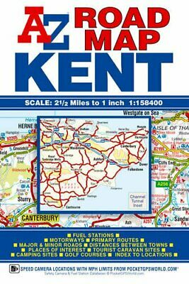 Kent Road Map (A-Z Road Map) by Geographers A-Z Map Company Sheet map, folded