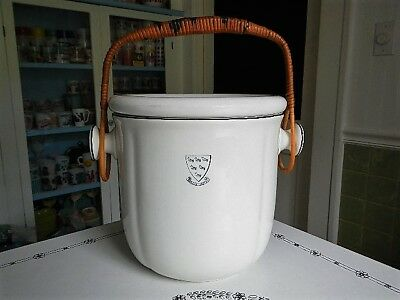 1920s Sussex Hotel England Royal Doulton Slop Pail Chamber Pot Commode Bucket